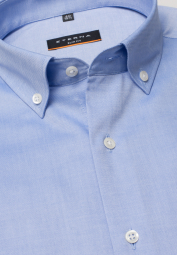 ETERNA LONG SLEEVE SHIRT SLIM FIT PINPOINT MEDIUM BLUE UNI