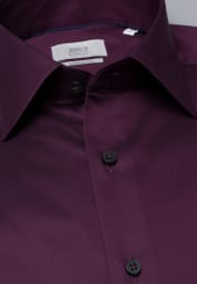 ETERNA LONG SLEEVE SHIRT COMFORT FIT GENTLE SHIRT TWILL BURGUNDY UNI
