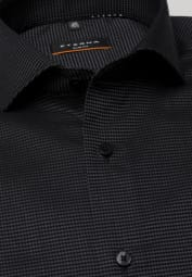 ETERNA LONG SLEEVE SHIRT SLIM FIT KETTLANCÈ BLACK STRUCTURED