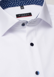 ETERNA HALF SLEEVE SHIRT MODERN FIT WHITE STRUCTURED