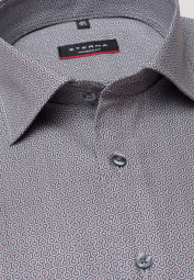 ETERNA LONG SLEEVE SHIRT MODERN FIT PINPOINT GREY PRINTED