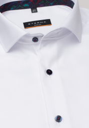 ETERNA LONG SLEEVE SHIRT SLIM FIT TWILL WHITE STRUCTURED
