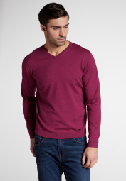 ETERNA KNIT SWEATER WITH V-NECK PLUM UNI