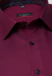 ETERNA LONG SLEEVE SHIRT MODERN FIT TWILL RED STRUCTURED