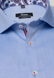 ETERNA LONG SLEEVE SHIRT SUPER-SLIM PINPOINT BLUE UNI