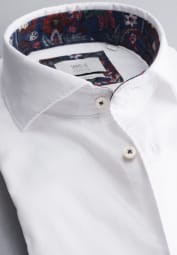 ETERNA LONG SLEEVE SHIRT SLIM FIT SOFT TAILORING TWILL WHITE UNI