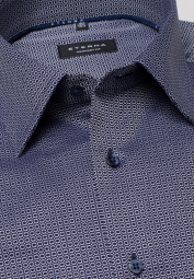 ETERNA LONG SLEEVE SHIRT COMFORT FIT KETTLANCÈ DARK BLUE PATTERNED