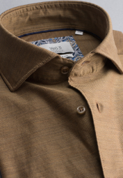 ETERNA LONG SLEEVE SHIRT MODERN FIT SOFT TAILORING TWILL BROWN UNI