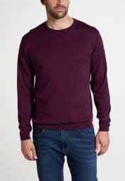 ETERNA KNIT SWEATER WITH ROUND NECK BORDEAUX UNI