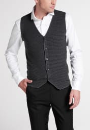 ETERNA KNIT VEST GREY STRUCTURED