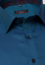 ETERNA LONG SLEEVE SHIRT MODERN FIT TWILL TURQUOISE STRUCTURED
