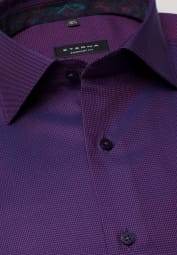 ETERNA LONG SLEEVE SHIRT COMFORT FIT TWILL VIOLET STRUCTURED