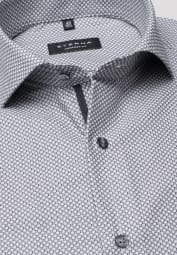 ETERNA LONG SLEEVE SHIRT COMFORT FIT KETTLANCÈ GRAY / PETROL STRUCTURED