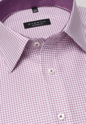 ETERNA LONG SLEEVE SHIRT COMFORT FIT TWILL RED/WHITE CHECKED