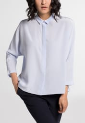 LONG SLEEVE BLOUSE 1863 BY ETERNA - PREMIUM BLUE UNI