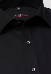 ETERNA HALF SLEEVE SHIRT MODERN FIT POPLIN BLACK UNI