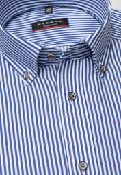 ETERNA LONG SLEEVE SHIRT MODERN FIT TWILL BLUE STRIPED