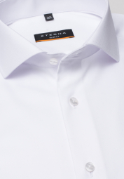 ETERNA LONG SLEEVE SHIRT SLIM FIT COVER SHIRT TWILL WHITE UNI