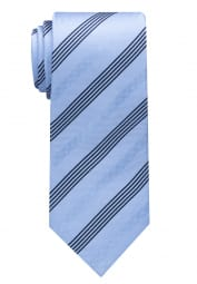 ETERNA TIE LIGHT BLUE / NAVY STRIPED