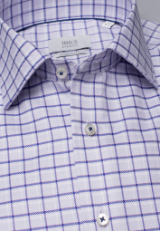 ETERNA LONG SLEEVE SHIRT COMFORT FIT TWILL PURPLE CHECKED