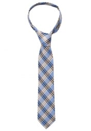 ETERNA TIE BROWN/BLUE CHECKED