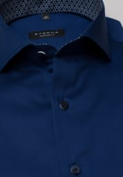 ETERNA HALF SLEEVE SHIRT COMFORT FIT COOL SHIRT TWILL NAVY UNI