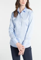ETERNA LONG SLEEVE BLOUSE MODERN CLASSIC LIGHT BLUE UNI