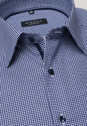 ETERNA LONG SLEEVE SHIRT COMFORT FIT TWILL BLUE/WHITE CHECKED