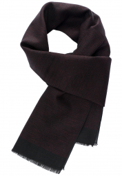 ETERNA SCARF BORDEAUX/BLACK STRUCTURED
