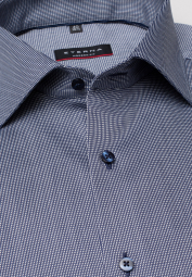 ETERNA HALF SLEEVE SHIRT MODERN FIT NAVY BLUE STRUCTURED