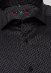 ETERNA LONG SLEEVE SHIRT MODERN FIT KETTLANCÈ BLACK STRUCTURED