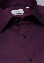 ETERNA LONG SLEEVE SHIRT MODERN FIT GENTLE SHIRT TWILL BURGUNDY UNI