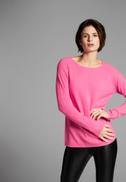 ETERNA KNIT SWEATER WITH ROUND NECK RASPBERRY UNI