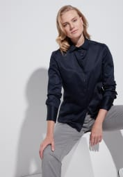 ETERNA LONG SLEEVE BLOUSE MODERN CLASSIC NAVY UNI