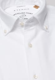ETERNA LONG SLEEVE SHIRT MODERN FIT UPCYCLING SHIRT OXFORD WHITE UNI