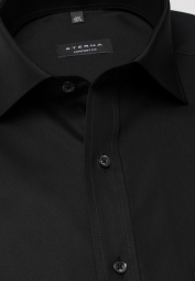 ETERNA LONG SLEEVE SHIRT COMFORT FIT POPLIN BLACK UNI