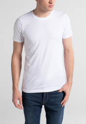 ETERNA BODYSHIRT WITH ROUND NECK WHITE UNI