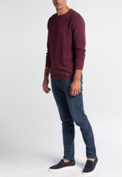ETERNA KNIT SWEATER SLIM FIT WITH ROUND NECK BURGUNDY UNI