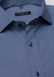 ETERNA LONG SLEEVE SHIRT COMFORT FIT POPLIN NAVY PRINTED
