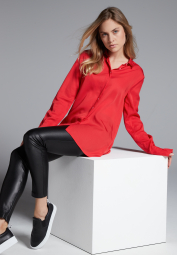 LONG SLEEVE BLOUSE 1863 BY ETERNA - PREMIUM RED UNI