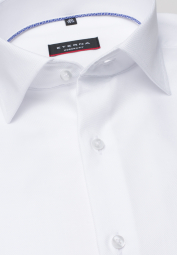 ETERNA LONG SLEEVE SHIRT MODERN FIT TWILL WHITE STRUCTURED