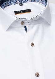 ETERNA LONG SLEEVE SHIRT SLIM FIT NATTÉ WHITE STRUCTURED