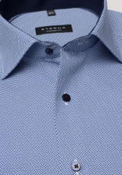 ETERNA LONG SLEEVE SHIRT COMFORT FIT POPLIN BLUE/WHITE PRINTED