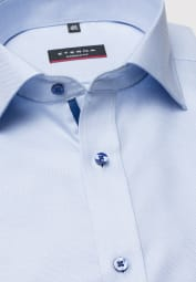 ETERNA HALF SLEEVE SHIRT MODERN FIT TWILL LIGHT BLUE STRUCTURED