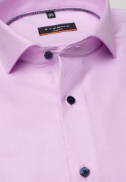 ETERNA LONG SLEEVE SHIRT SLIM FIT TWILL ROSE STRUCTURED