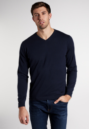 ETERNA KNIT SWEATER WITH V-NECK NAVY UNI