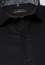ETERNA LONG SLEEVE SHIRT SLIM FIT PINPOINT ANTHRACITE UNI