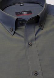 ETERNA LONG SLEEVE SHIRT MODERN FIT CHAMBRAY OLIVE GREEN UNI