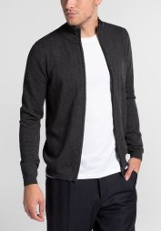 ETERNA KNIT CARDIGAN ANTHRACITE UNI