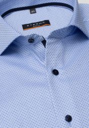 ETERNA LONG SLEEVE SHIRT SLIM FIT TWILL-STRETCH BLUE STRUCTURED